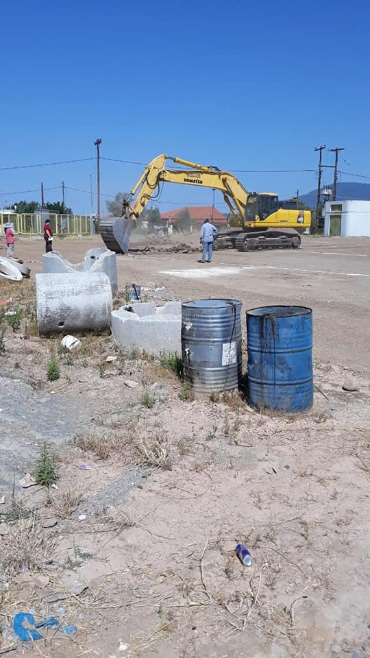 Ξεκίνησαν οι εργασίες στο Δημοτικό Στάδιο Ψαχνών για την κατασκευή του κλειστού γυμναστηρίου [photos]