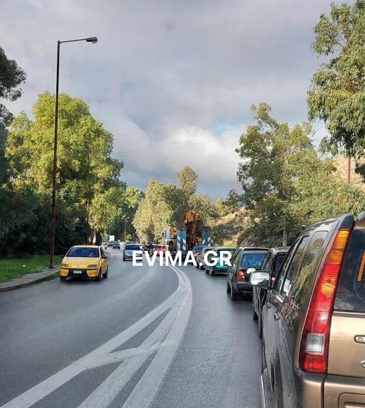Κυκλοφοριακό κομφούζιο στην είσοδο της Χαλκίδας – Ουρά χιλιομέτρων