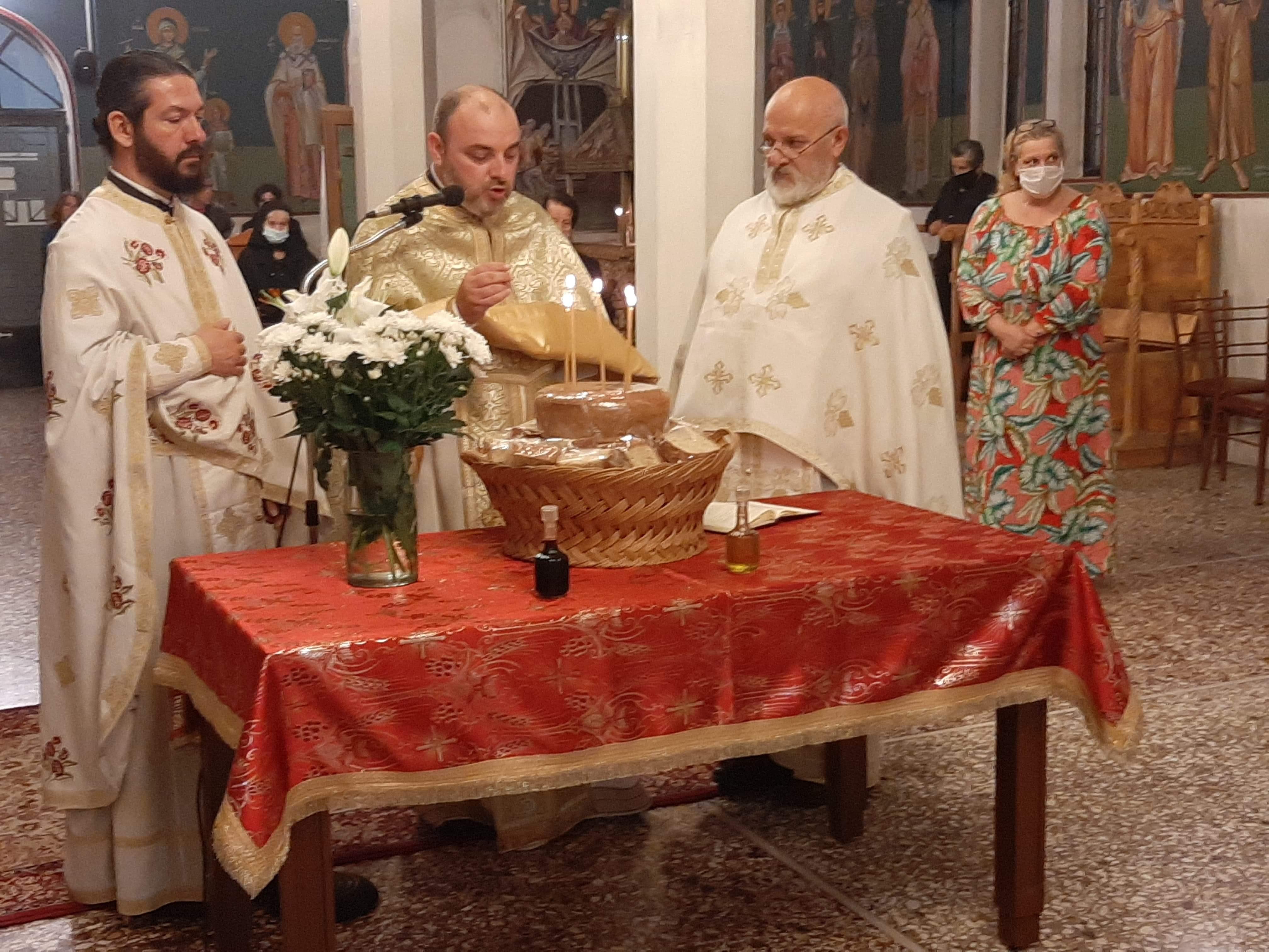 Αγρυπνία στον  Ιερό Ναό Αγιών Κωνσταντίνου και Ελένης στον Θεολόγο Διρφύων