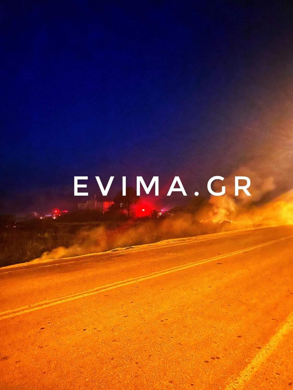 Νότια Εύβοια: Και δεύτερη φωτιά, πριν τη διασταύρωση του Αργυρού – Ευτυχώς υπό έλεγχο