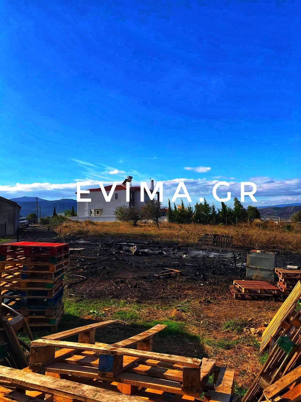 Εύβοια: Φωτιά κοντά σε σπίτια στο χωριό Κριεζά – Αποκλειστικές εικόνες