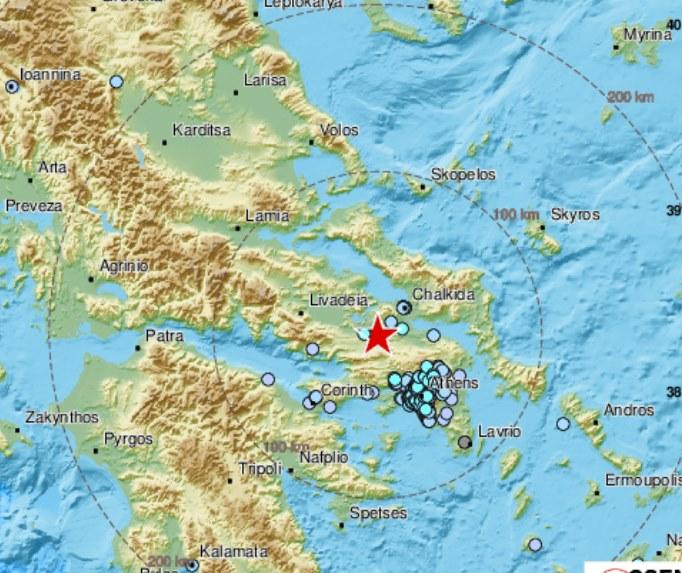 Σεισμός 4,5 Ρίχτερ στη Θήβα -Αισθητός και στην Εύβοια