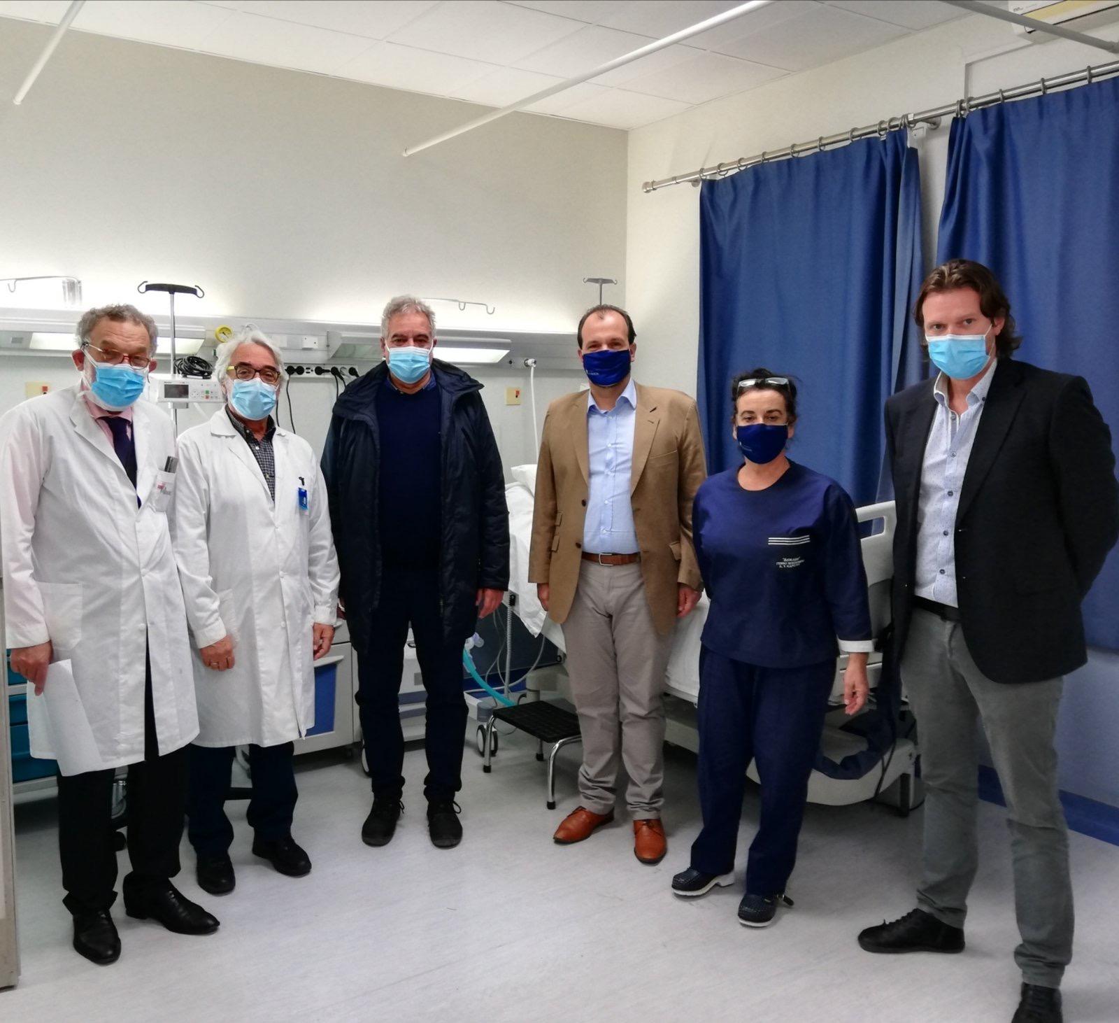 Επίσκεψη του Διοικητή της 5ης   Υγειονομικής Περιφέρειας στο Νοσοκομείο Καρύστου