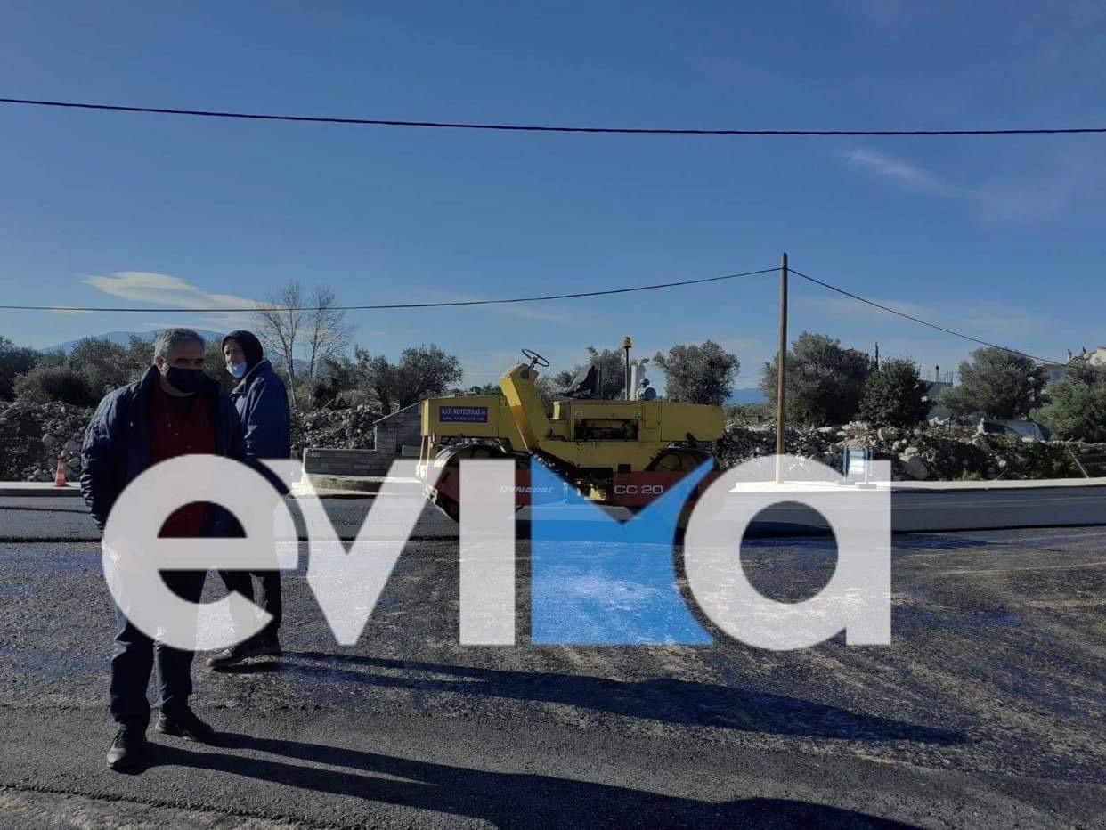 Συντήρηση επαρχιακής οδού Ψαχνά, Πολιτικά, Νεροτριβιά, του Δήμου Διρφύων Μεσσαπίων [εικόνες]