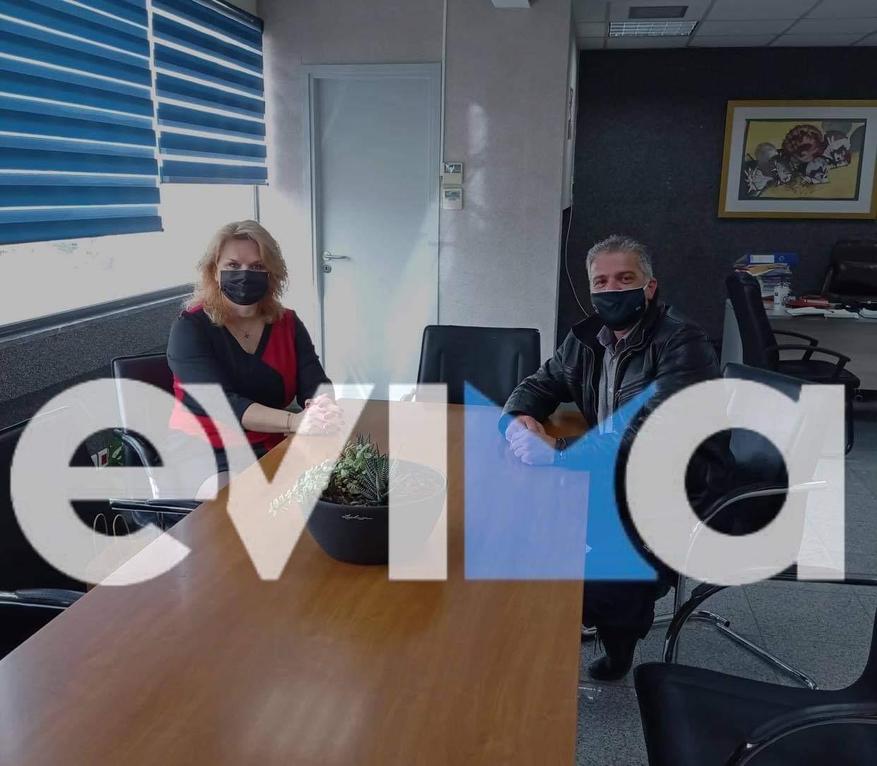Εύβοια – Χαλκίδα: Σε πολύ καλό κλίμα η συνάντηση Μαυρίκου – Βάκα