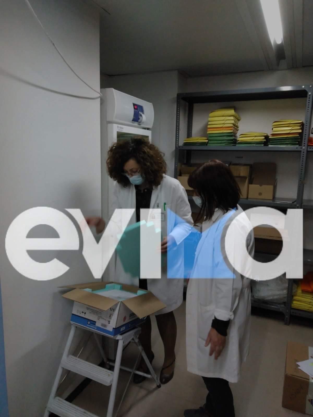 Λιβαδειά ΤΩΡΑ: Παραδόθηκε στο νοσοκομείο η δεύτερη παρτίδα εμβολίων [εικόνες]
